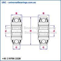 Plough Bearings Hexagonal Bore Diagram