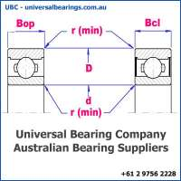 deep groove ball bearing single row diagram metric