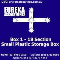 Plastic storage box 18 sections eureka assortments