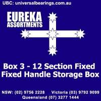 Box 3 - 12 Section Fixed Handle Storage Box Size Eureka assortments