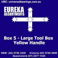 Plastic Tool Box Yellow Handle Eureka Assortments