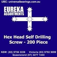 hex head self drilling screw 200 piece eureka assortments