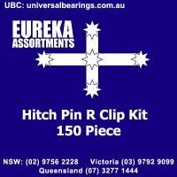 hitch pin R clip 150 piece kit eureka assortments