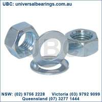 washers and nuts zinc plated