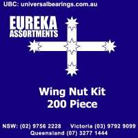 Wing Nut kit 150 pieces eureka assortments