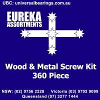 wood screws metal screws assorted kit 360 Piece australia