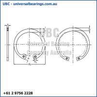 1 Circlip Internal 101mm to 200mm