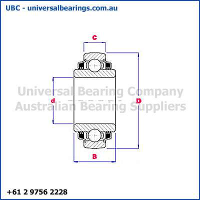 plough bearings round bore spherical diagram