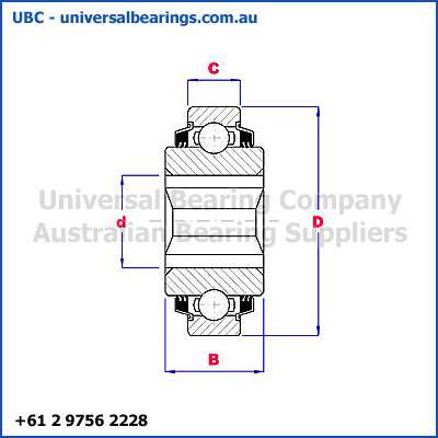 Plough Bearings Square Bore Cylindrical Diagram