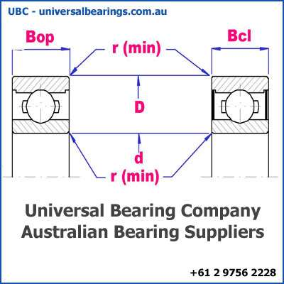 deep groove ball bearing single row diagram 40-60 mm