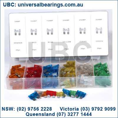 Auto Blade Fuse Kit 120 Piece Eureka Assortments