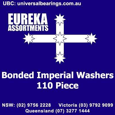 Bonded imperial washers seal 110 piece eureka assortment