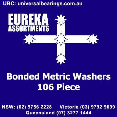 bonded metric washers seal 106 piece eureka assortment