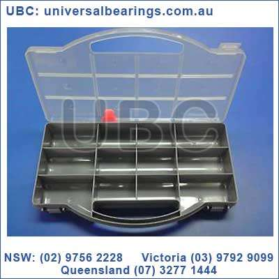 12 Section Fixed Handle Storage Box Size: 26 cm x 16 cm x 4.5 cm
