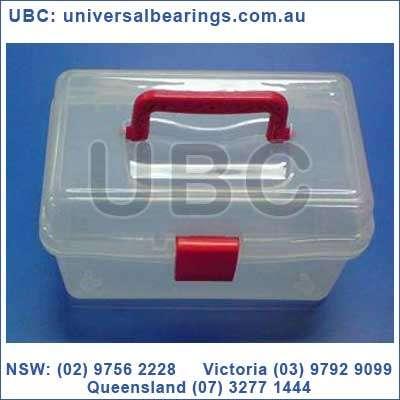 Box 4 Tool Box Red Handle Plastic 18 cms x 9.5 cms x 10cms
