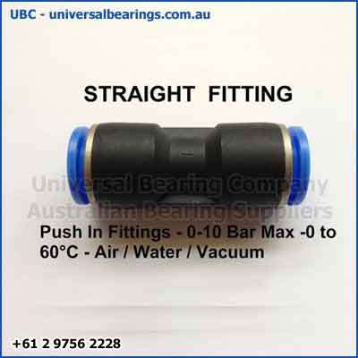 Push in air line fittings Imperial
