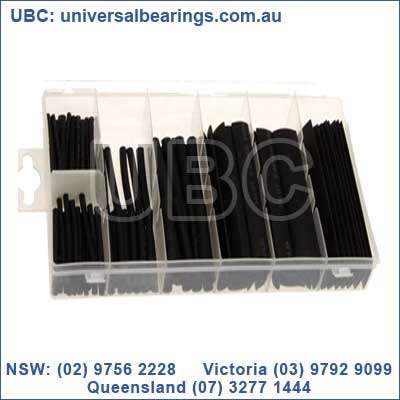 black heat shrink tube kit