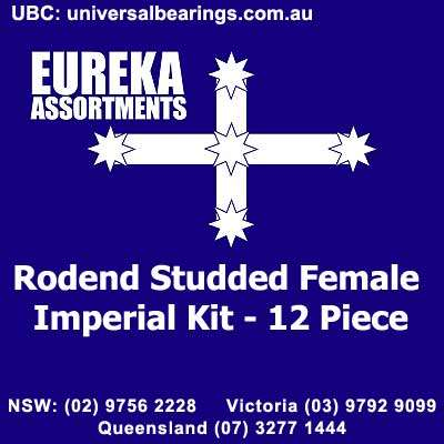 rod end studded female imperial kit 12 pieces