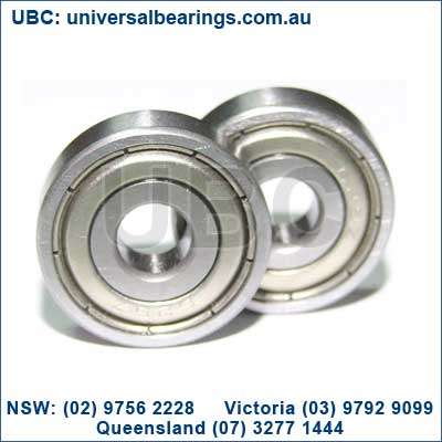 "bearing size is the ""608."" Characterized by an 8mm core, a 22mm outer diameter and a 7mm width"