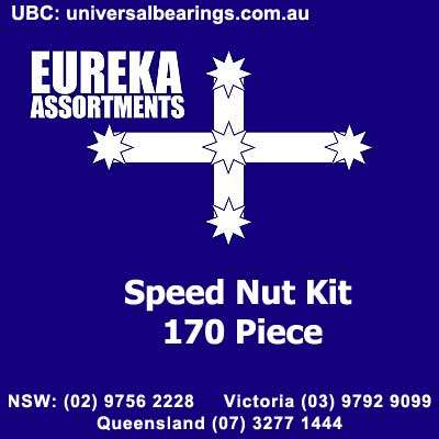 speed nut kit 170 piece used to secure panels and brackets