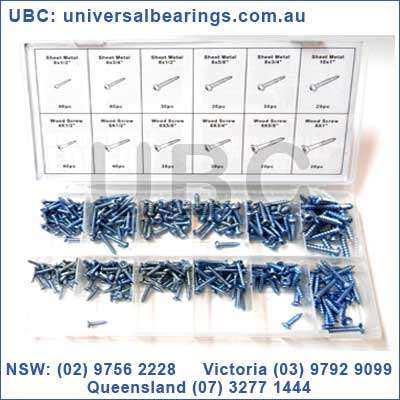 wood screws metal screws assorted kit 360 Piece UBC