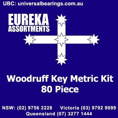 woodruff key metric kit 80 piece