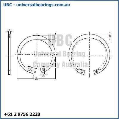 1 Circlip Internal 0mm to 100mm