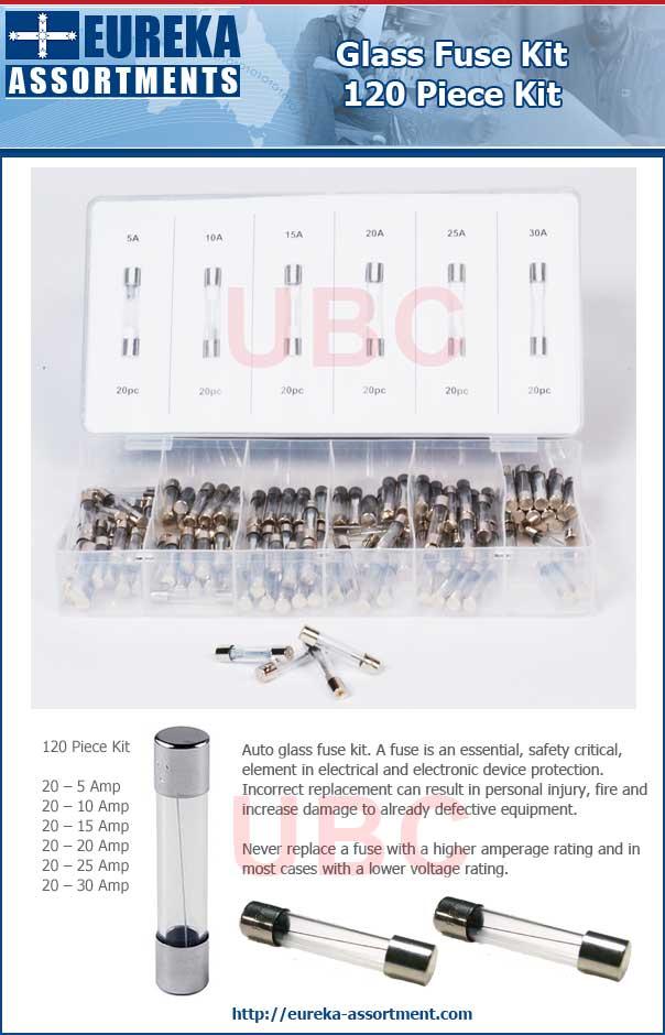 glass fuse kit 120 piece eureka assortments