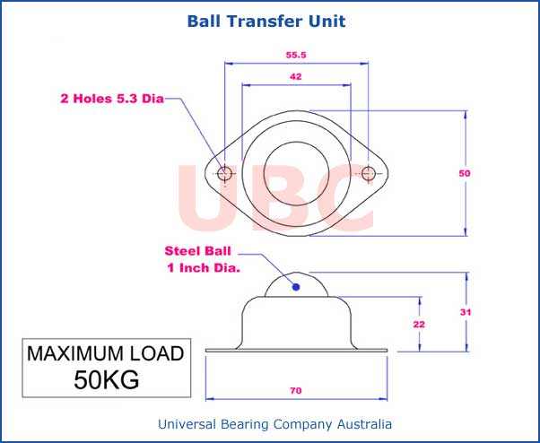 Ball Transfer Unit Diagram