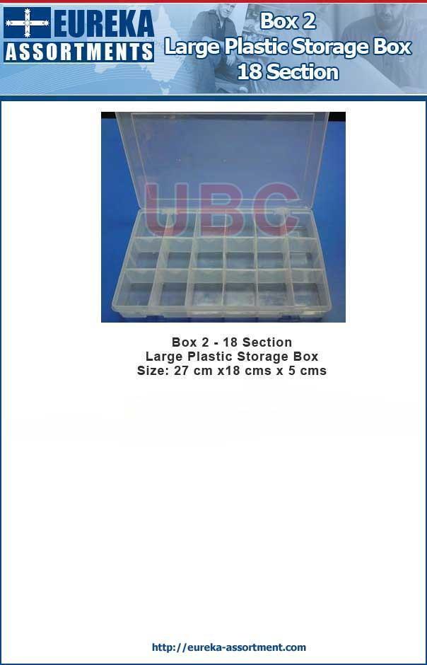 18 Compartment Storage Box Large Plastic Case