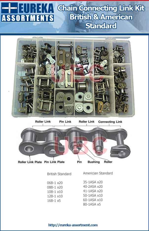 chain connecting link kit eureka assortments