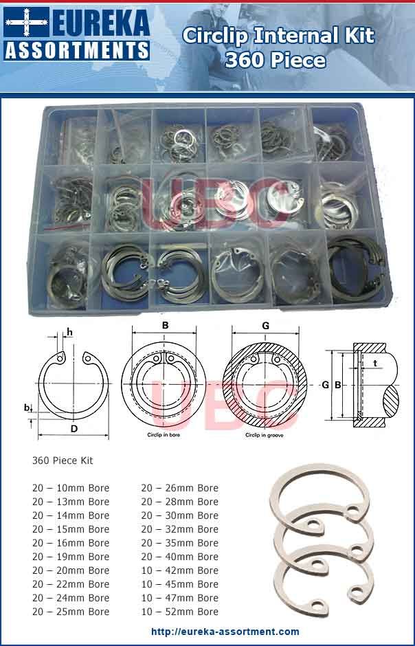 circlip internal kit Internal Series Snap Ring Maintenance Kit Spring Steel Fastener Sets