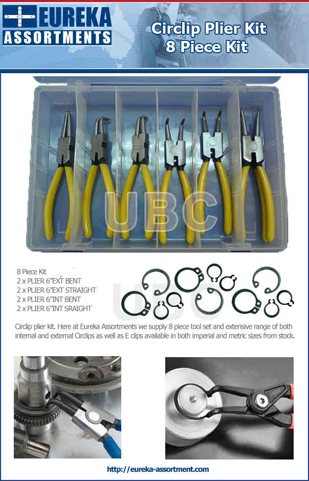 circlip plier kit 8 piece tools