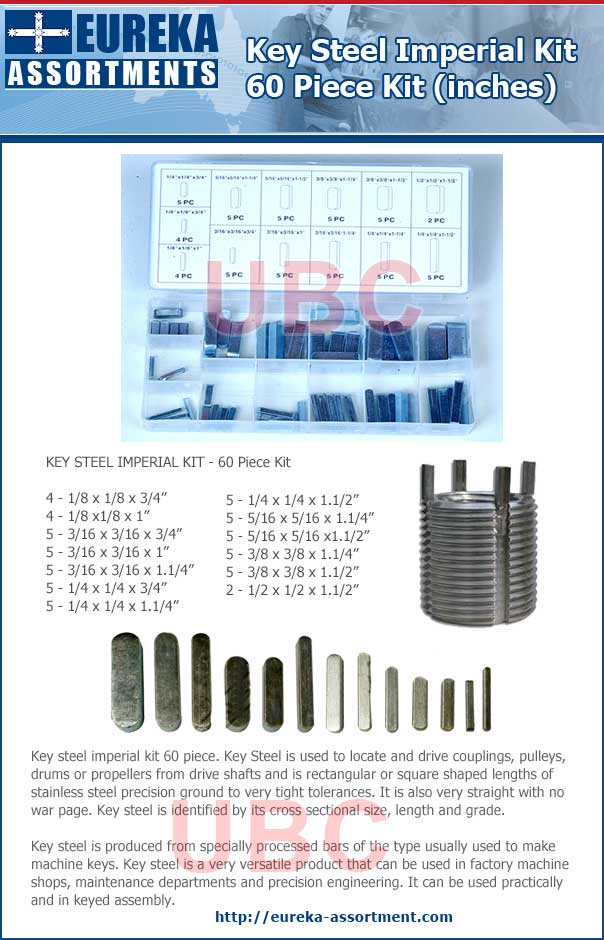 key steel imperial kit 60 piece eureka assortments