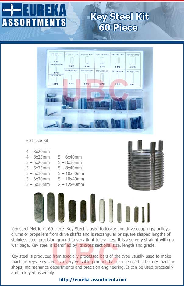key steel metric kit 60 piece eureka assortmentrs