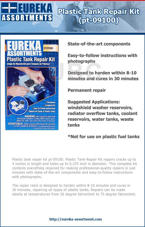 plastic tank repair kit pt-09100 eureka assortments