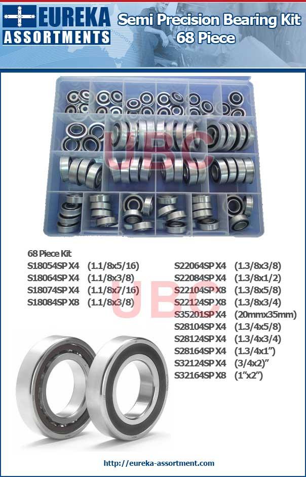 semi precision bearing kit 68 piece eureka assortments