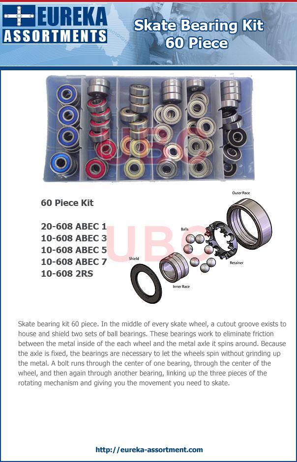 skate bearing kit 60 piece eureka assortments