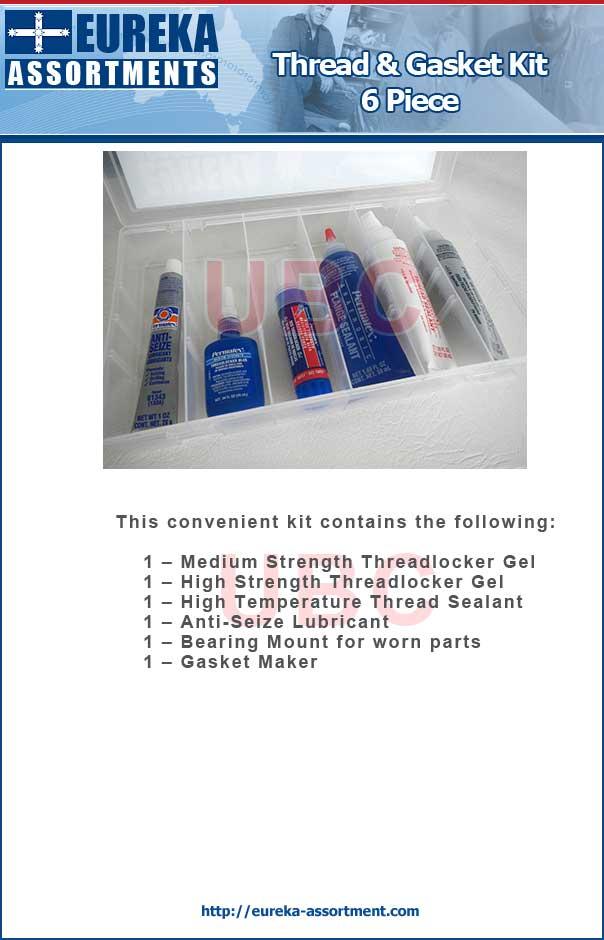 thread and gasket kit 6 pieces eureka assortment