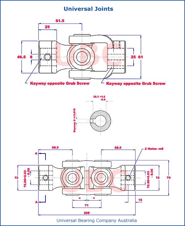Universal Joints Diagram